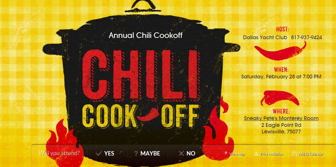 2015 February Chili Cook off