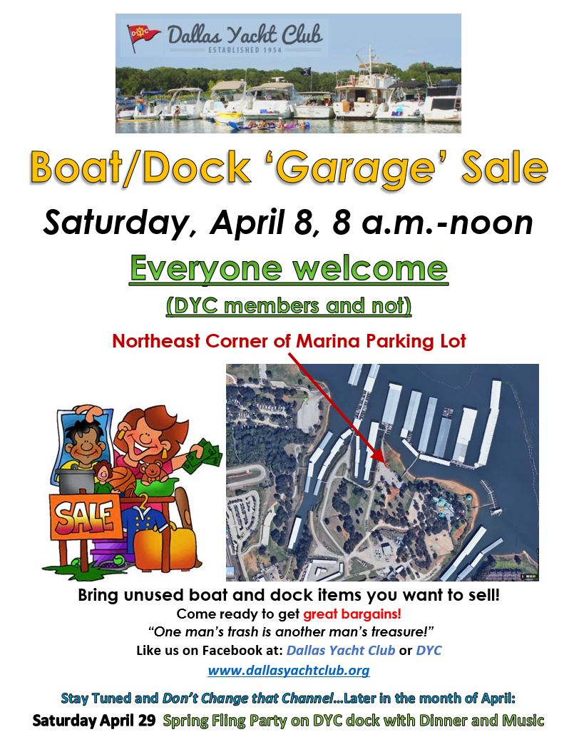 April 2017 DYC Boat-Doc Garage Sale