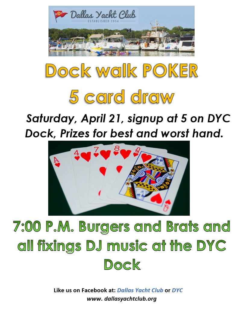 April 2018 DYC Dock Poker